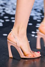 see through footwear, so everyone can see how much pain you're ...
