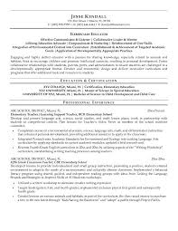 gallery of special education assistant resume sample sample resume education