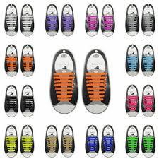 2019 Brand <b>New</b> Style <b>16PCS</b> 10 <b>Colors</b> No Tie Shoelaces Rubber ...