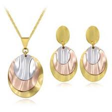 <b>Viennois</b> Earrings & Necklace Jewelry Sets for Women <b>Gold</b>/<b>Rose</b> ...