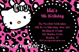 kitty zebra or cheetah hot pink birthday party invitation 128270zoom