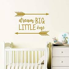 Dream Big Little One Wall Decal/Nursery Quote ... - Amazon.com