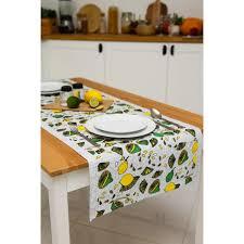 Дорожка столовая <b>AMARO HOME</b> Grace Лимон 150х48 см в ...