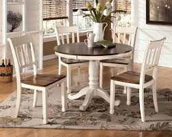 kitchen pedestal dining table set: signature design by ashley whitesburg  piece round table set item number d