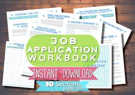 printable job application workbook career planner job job application tracker instant pdf 🔎zoom