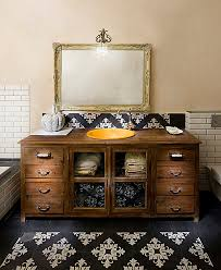 arts crafts bathroom vanity: arts and crafts bathroom vanity bathroom shabby chic style with wall lighting repurposed furniture