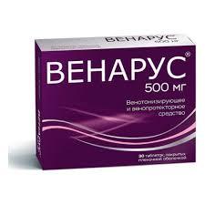 Лекарственное средство ФП <b>Венарус</b> таб. п/п/о <b>500мг</b> №<b>30</b> ...