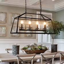 online shopping retro rustic wrought iron black chandelier light rectangle loft pendant lamp vintage industrial glass cheap rustic lighting