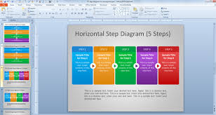 free steps diagram for powerpointhorizontal step powerpoint template
