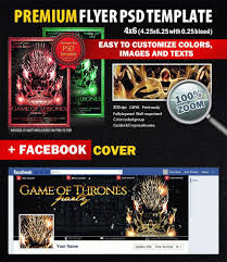 game of thrones party psd flyer template styleflyers game of thrones party psd flyer template