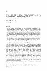 the methodology of self study and its theoretical underpinnings inside
