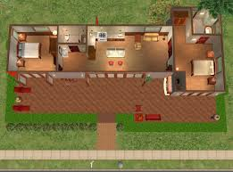 Mod The Sims   Hummingbird H  modern base game no cc two bedroom    JPG Size    KB Click image for larger version Name  FloorPlan