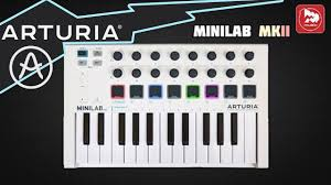 <b>MIDI</b> контроллер <b>Arturia Minilab MkII</b> - YouTube