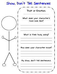 show don t tell graphic organizer for writing about show don t tell graphic organizer for writing about characters descriptive