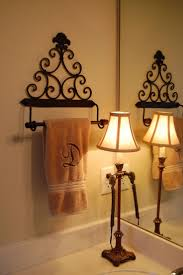 metal wall decor shop hobby: bless our nest small change big difference towel holder from hobby lobby