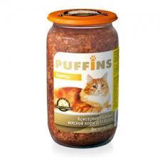 <b>Puffins консервы</b> для кошек <b>Курица</b> 650 г (стекло) - Zoo-galereya.ru