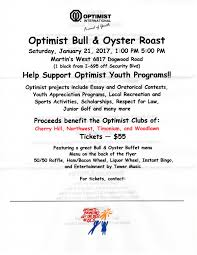bull oyster roast timonium optimist club flyer here