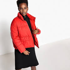 <b>Куртка</b> стеганая покроя оверсайз красный <b>La Redoute</b> Collections ...