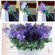 <b>1PCS Artificial Lavender</b> Flowers Leaves Bouquet Home Wedding ...
