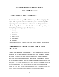 Help me make a thesis statement   Essay for USA WORK Inc  Help me make a thesis statement