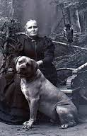 Image result for elderly lady with large dog