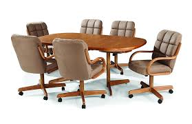 casual dining chairs with casters: amazoncom casual dining cushion swivel and tilt rolling caster chair chairs