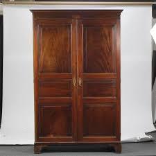 english georgian style 19th century mahogany armoire with banded inlay antique mahogany armoire