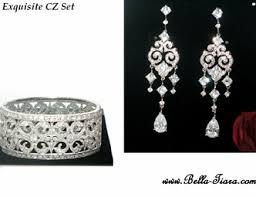 Bella- Equisite Vintage <b>High end CZ</b> jewelry set - Amazingly priced!!