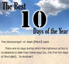 Image result for first 10 days of dhul hijjah