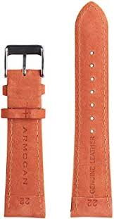 Armogan Genuine <b>Suede</b> Rally <b>Perforated Leather</b> Watch Strap ...