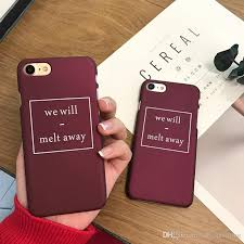 For Iphone 7 Mobile Phone Cases <b>Wine Red</b> English Box <b>Ultra Thin</b> ...