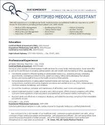 sample resume for certified medical assistant  medical assistant    sample resume for certified medical assistant