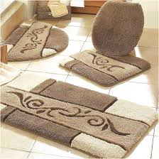rugs set bathroom cotton