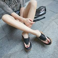 Women Platform Wedge High Heels <b>Slipper Summer Flip Flops</b> ...