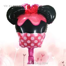 Lucky <b>50pcs</b>/<b>lot Mini</b> Mickey Minnie Cake Balloon Baby Shower Foil ...
