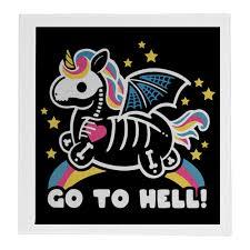 <b>Полотенце 30</b>×<b>30 см</b> Go to hell unicorn #3319505 от Павел Павел