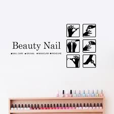 Beauty Nail Art <b>Wall Decals Pedicure</b> Business Sign <b>Vinyl</b> Wall ...