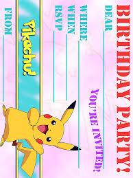 pokemon birthday invitations com pokemon birthday invitations by putting appealing invitation templates printable to create your luxurious birthday 18