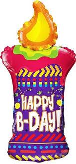Конвер <b>Шарик</b> воздушный С Днем Рождения Свеча — купить в ...
