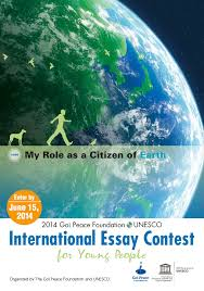 past contests the goi peace foundation my role as a citizen of earth