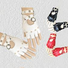 <b>Womens</b> Leather Half Finger <b>Gloves Punk Rivets</b> Belt <b>Gloves</b> ...