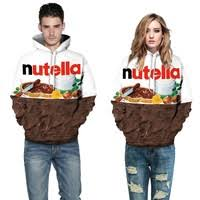 <b>Adogirl</b> Nutella <b>Letter Print</b> Skateboard Sweatshirts 3D Chocolate ...