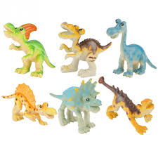 <b>6Pcs</b> set <b>Cartoon Animal</b> dinosaurs Toy Set Model Kids Children ...