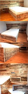 repurposed pallet bed with wall headboard bedroomdelightful galerie bachmann modular system sofa george