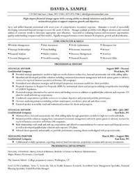 financial advisor resume career advisor resume