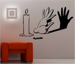 bedroom painting designs: bedroom amazing creative painting ideas for bedrooms with candle and rabbit picture theme also combine with orange color bedside table with interior paint
