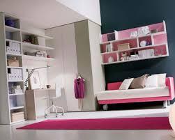 Mattress Bedroom Fashionable Teenage Bedroom With Pink Fur Rug And Wall Mounted Book Rack Modern  U