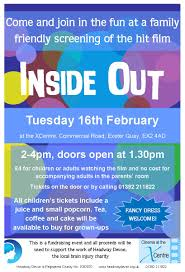 fundraising events headway devon inside out film screening flyer
