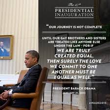President Obama calls for the freedom to marry in second inaugural ... via Relatably.com