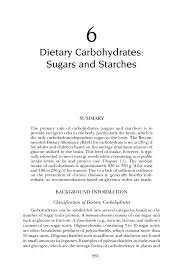 dietary carbohydrates sugars and starches dietary reference page 265